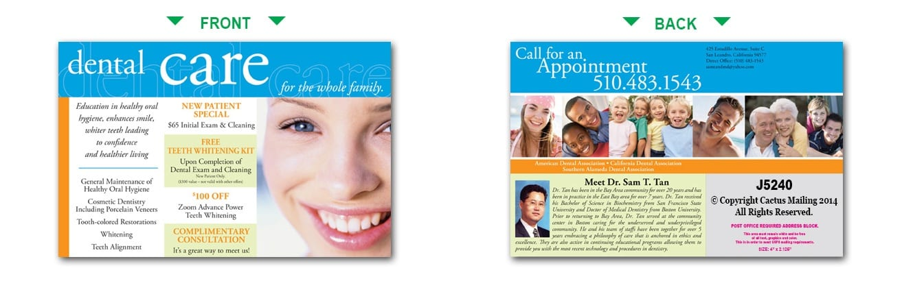 Dental Postcards | Dentist Marketing with Direct Mail