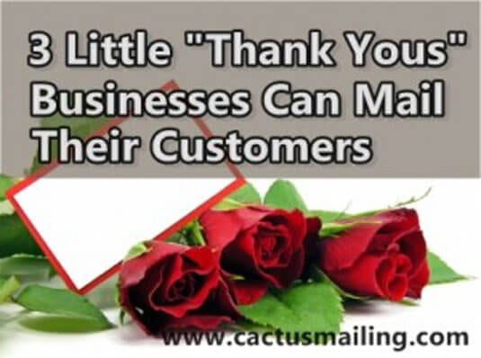 3 little thank yous businesses can mail their customers 300x223 1