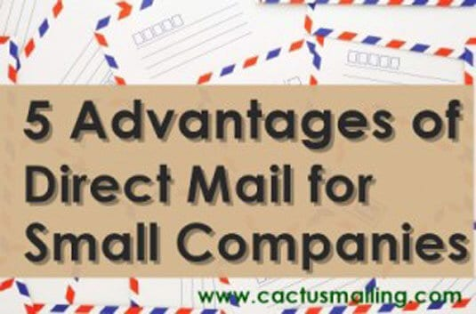 5 advantages of direct mail for small companies 300x198 1