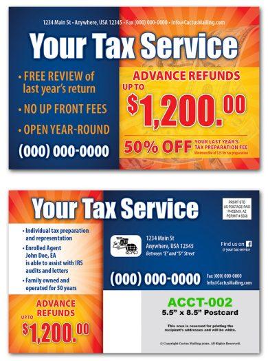 Tax Service Postcard