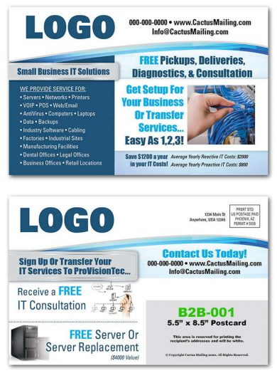 business to business postcards