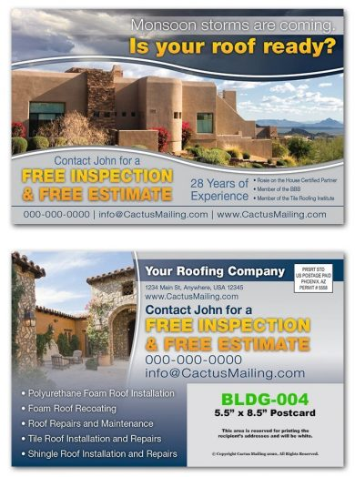 Roofing Construction Postcards