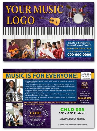 music education postcards