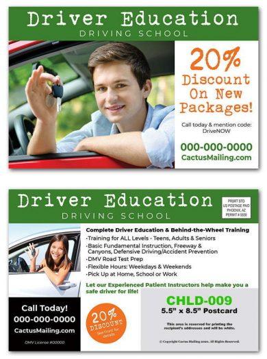 driver education postcards