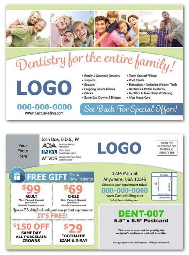 Family Dental Postcards