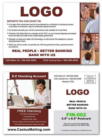 Banking Postcards