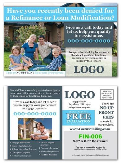 Mortgage Postcards