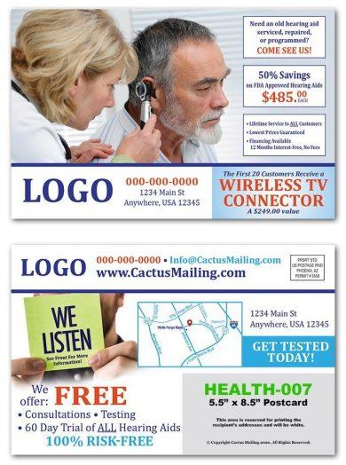 healthcare postcards