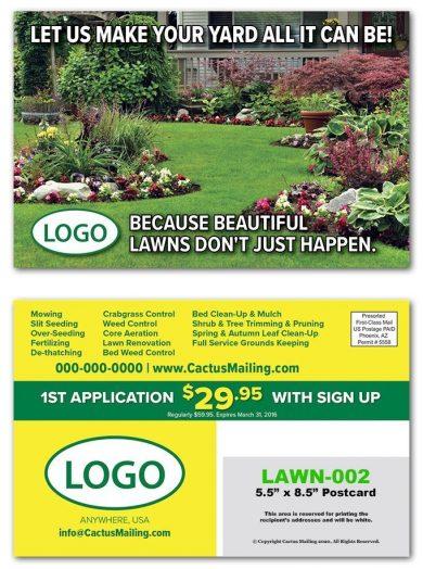 lawn care postcards