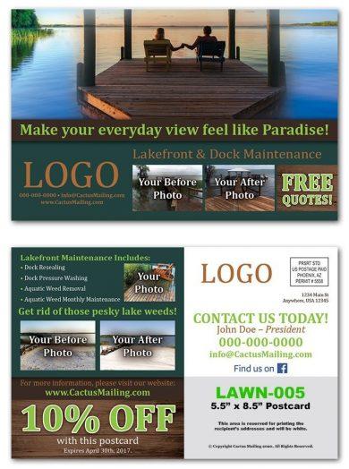Lakefront Maintenance Postcards