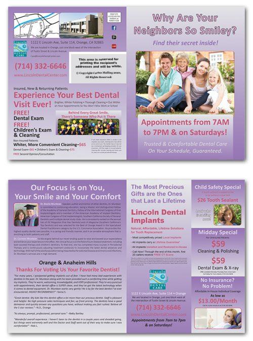 Direct Mail Quarter-Fold Brochure