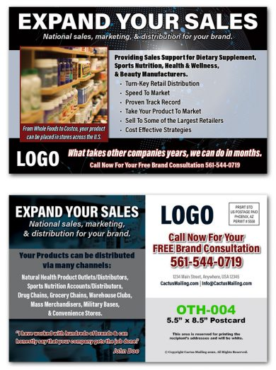 Brand Consultant Direct Mail Postcards