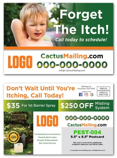 Pest Control Direct Mail Postcards