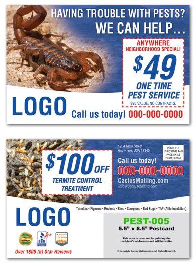 Pest Control Postcards