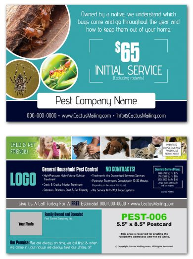 Pest Control Postcards