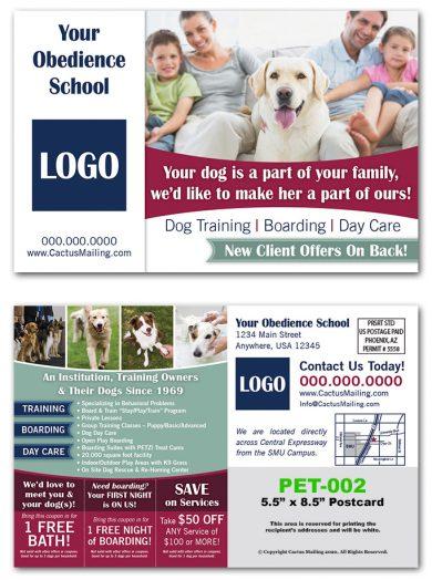 Pet Service Mail Postcards