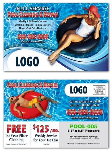 pool service postcards
