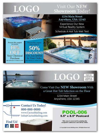 hot tub postcards