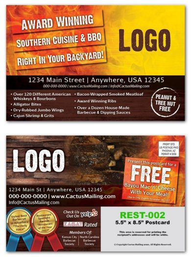 Barbecue Restaurant Postcards