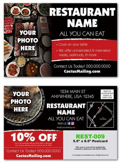 Korean Barbecue Restaurant Postcards