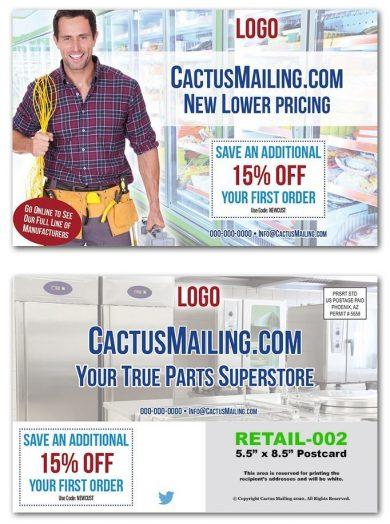 Repair Parts Retail Postcards