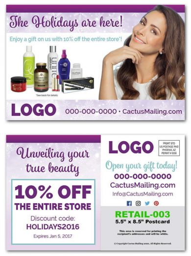 Beauty Supply Retail Postcards