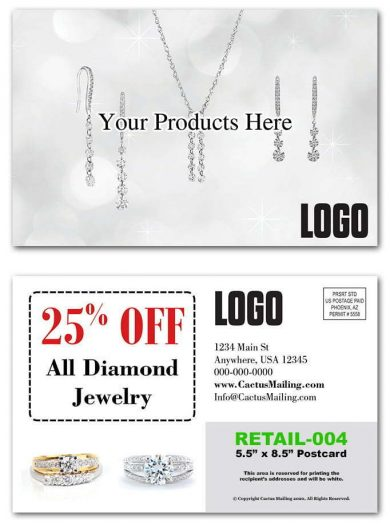 Jewelry Retail Postcards