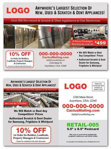 Appliance Retail Postcards