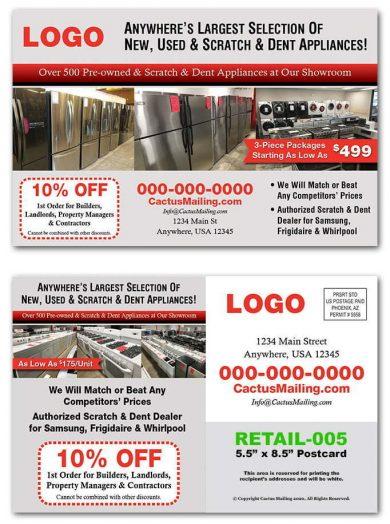 Appliance Retail Postcards