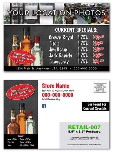 Liquor Store Postcards