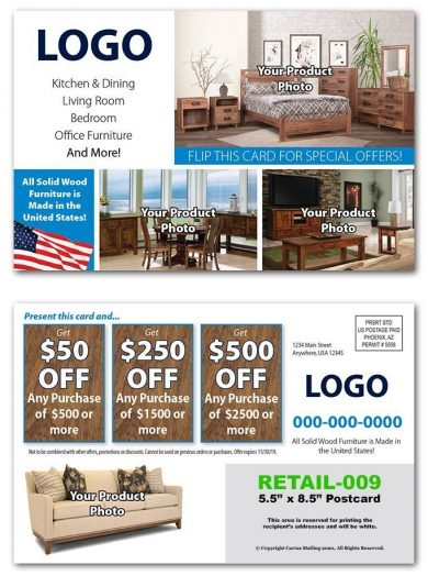 Furniture Retail Postcards