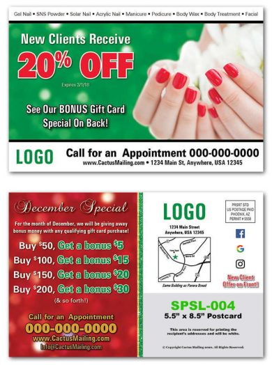 Nail Salon Postcards