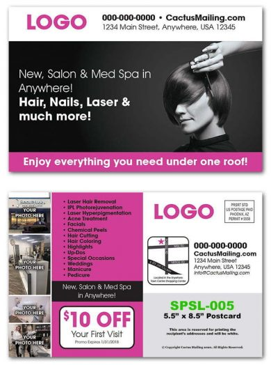 Salon & Med Spa Postcards