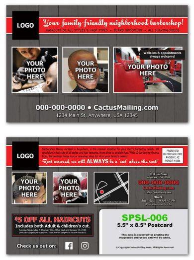 Barbershop Postcards
